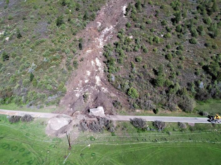 Rockslides in Colorado Hwy 145