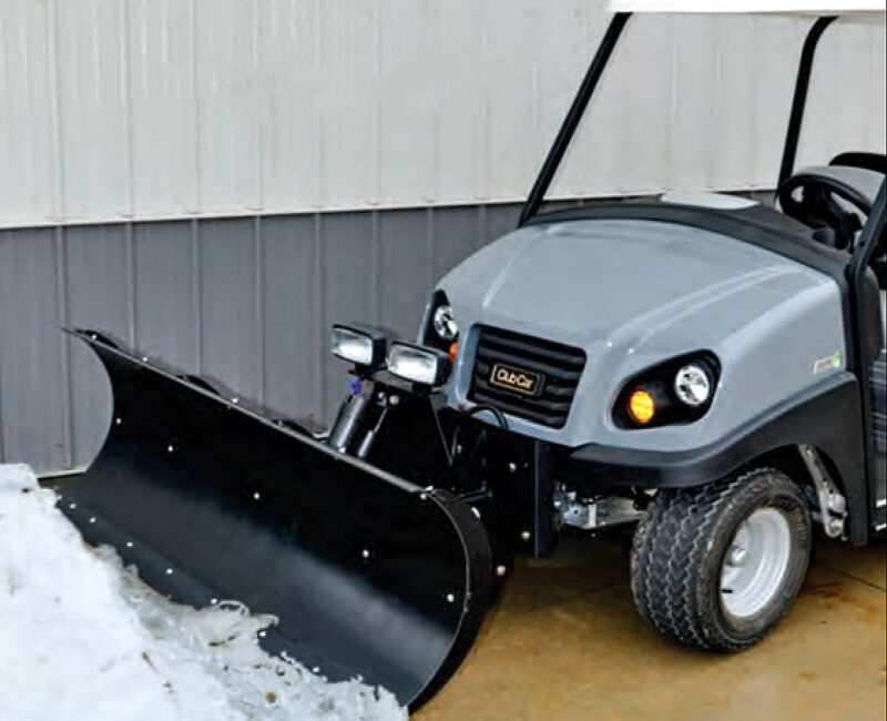 A snowplow for your golf cart